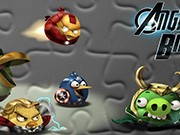puzzle online Angry Birds Avengers