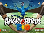 puzzle online Angry Birds Rio