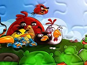 puzzle online Angry Birds Bitwa