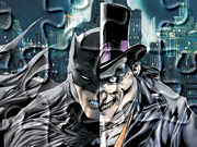Gry puzzle - Batman i Pingwin