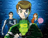 Ben Alien Force puzzle online