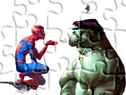 Gry puzzle - Spiderman i Hulk